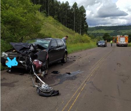 Identificado condutor de motocicleta que morreu após acidente na PR-180 em Marmeleiro